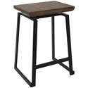 Gerald Rustic Modern Counter Stool