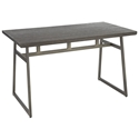 Gerald Industrial Modern Dining Table in Antique + Espresso