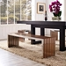 Germany Long Contemporary Wood Inlay Bench