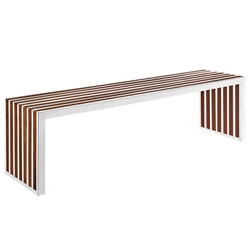 Germany Long Modern Wood Inlay Bench