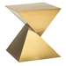 Giza Gold Steel Sculptural Modern End Table