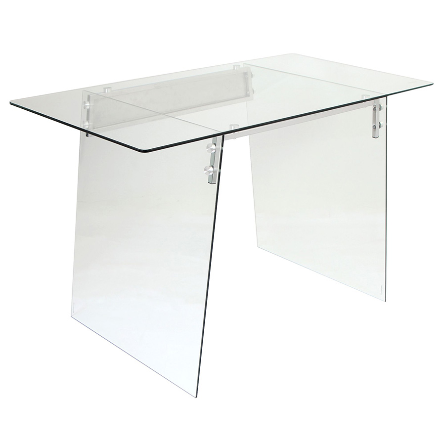 Gibson Modern Glass Desk