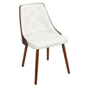 Gigi White Modern Side Chair