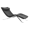 Gilda Modern Chaise Lounge in Black by Euro Style