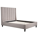 Gilford Gray Fabric Modern Queen Bed