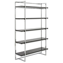 Gilbert Modern Black 5-Shelf Unit
