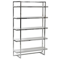 Gilbert Modern White 5-Shelf Unit