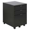 Gilbert Black Modern Mobile File Cabinet