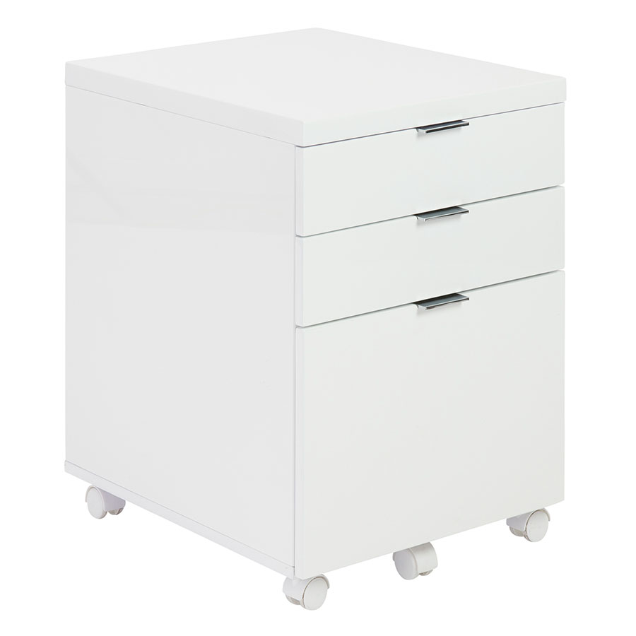 Gilbert White Modern Mobile File Cabinet