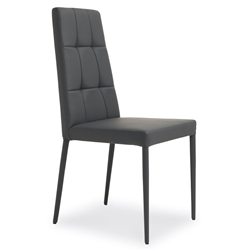 Ginerva Anthracite Modern Dining Side Chair by Pezzan