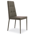 Ginerva Taupe Modern Dining Side Chair by Pezzan