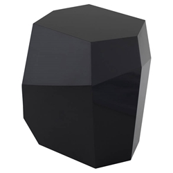 Gio Black Lacquered Geometric Contemporary Side Table by Nuevo