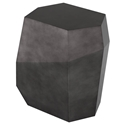 Gio Pewter Lacquered Geometric Contemporary Side Table by Nuevo
