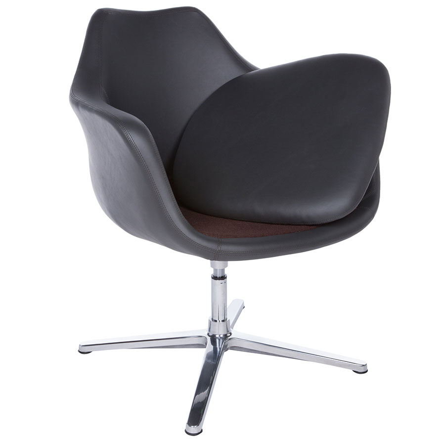 Giovana Modern Gray Lounge Chair By Euro Style Eurway
