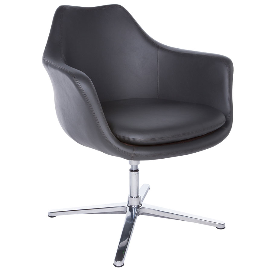 Giovana Modern Dark Gray Swivel Lounge Chair