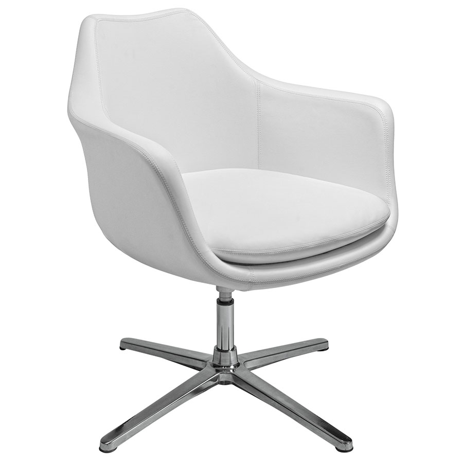 modern white lounge chair. Call To Order · Giovana Modern White Swivel Lounge Chair