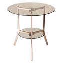 Girard Modern Copper + Glass End Table