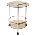 Girard Modern Copper Rolling End Table
