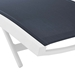 Glance Modern Navy + White Outdoor Chaise Lounge - Detail View