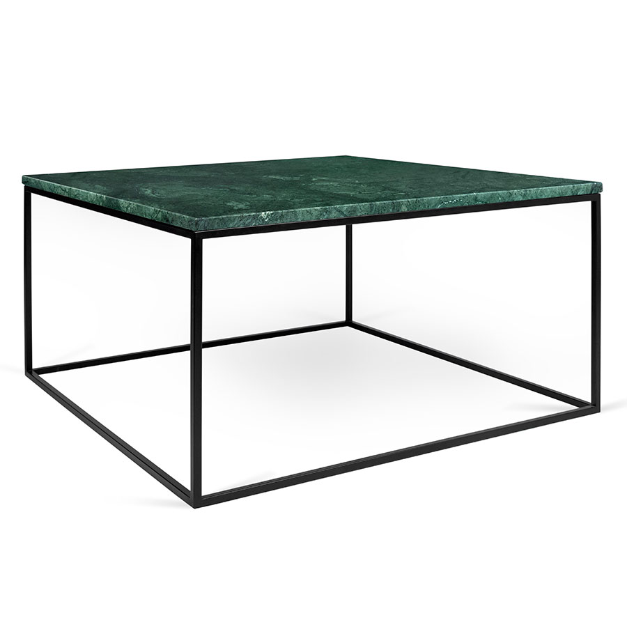 Gleam green marble black modern coffee table eurway Metal glass top coffee table