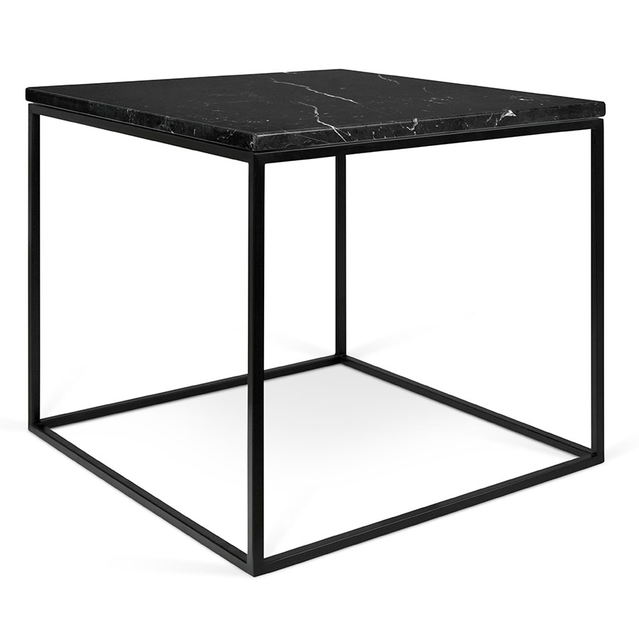 Gleam black marble modern side table by temahome eurway for Black side table