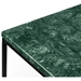 Gleam Green Marble Top + Black Metal Base Square Modern Side Table