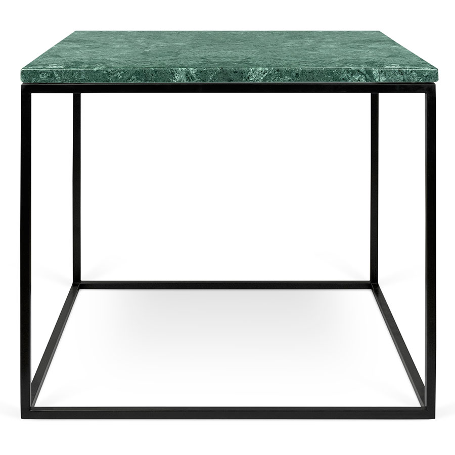 ... Gleam Green Marble Top + Black Metal Base Square Contemporary Side Table  ...