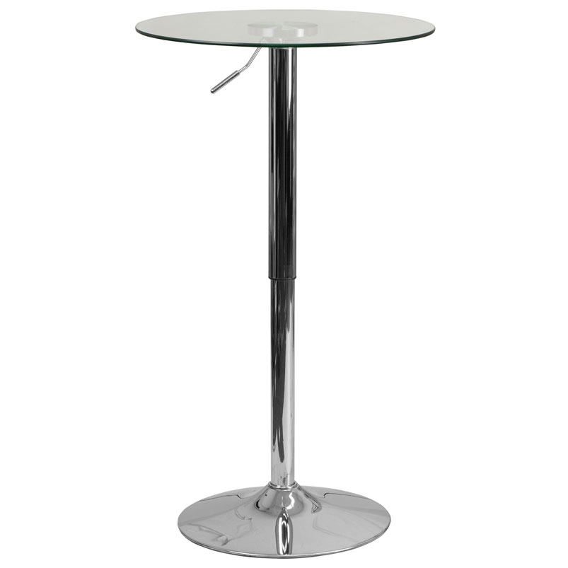 Glenn Modern Glass Adjustable Bar Table