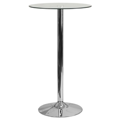 Glenn Modern Glass Counter Table