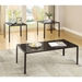 Goodwin Modern Coffee Table + End Table Set in Black