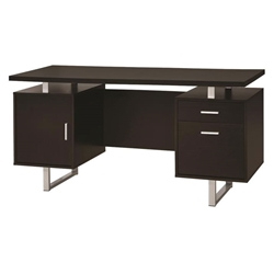 Gosnell Modern Cappuccino Desk w/ Drawers