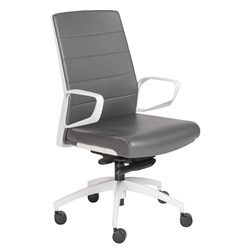 Graham White + Gray Modern Office Chair