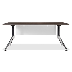Gothenburg Espresso Laminate + Chrome Base Modern Office Desk