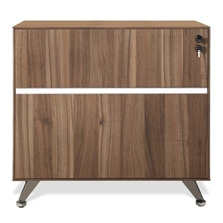 Gothenburg Modern Walnut Lateral File Cabinet