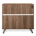 Gothenburg 300 Collection Modern Walnut Lateral File Cabinet