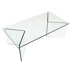 Grace Clear Bent Glass Coffee Table