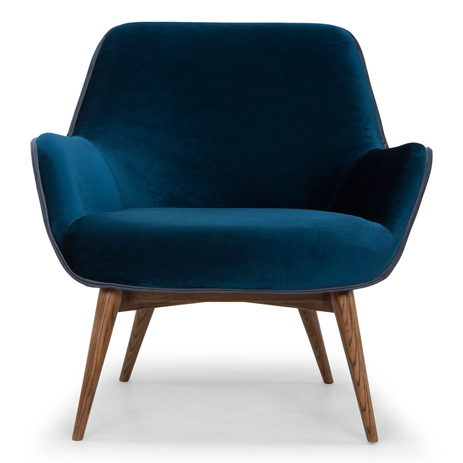 Grady Modern Lounge Chair In Midnight Blue Eurway