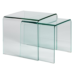 Granby Clear Glass Nesting Table Set