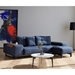 Grand Deluxe Excess Blue Sleeper Sofa by Innovation