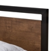 Granger Modern Metal + Wood Platform Bed - Headboard Detail