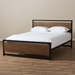 Granger Industrial Metal + Wood Platform Bed