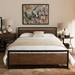 Granger Contemporary Metal + Wood Platform Bed