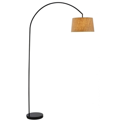 Grantham Modern Metal Arc Lamp in Black