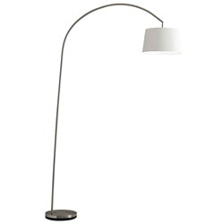 Grantham Modern Metal Arc Lamp in Brushed Steel