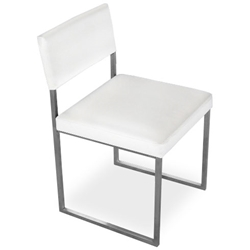 Graph Contemporary Chair by Gus Modern in Snow
