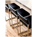 Graph Counter Stool in Coal and Stainless Steel