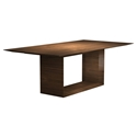 "Greenwich 87"" Modern Dining Table in Walnut by Modloft Black"