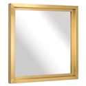 "Gregory 36"" Square Gold Steel Modern Wall Mirror"