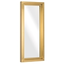 "Gregory 24"" Wide Gold Steel Modern Wall Mirror"