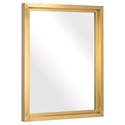 "Gregory 36"" Wide Gold Steel Modern Wall Mirror"